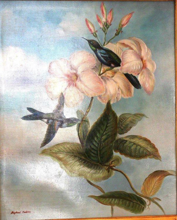 16: Raphael Embrose, Hummingbird and Hibiscus