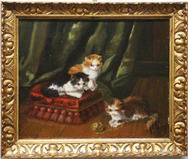 20: Louise Grosch, Kittens at Play