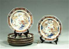 221: Set of ten Imari porcelain plates with scenic and
