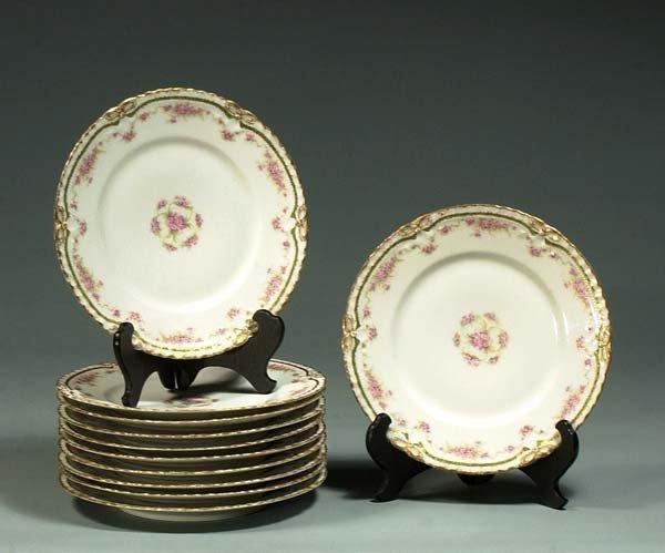 "1001: Set of 11 ""Theodore Haviland, Limoges"" 9"" plates"