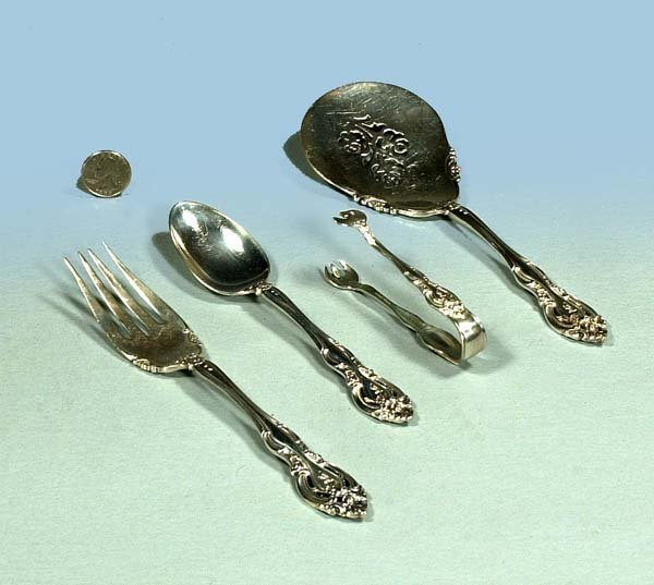 1006: A Gorham sterling silver large spoon and fork, a