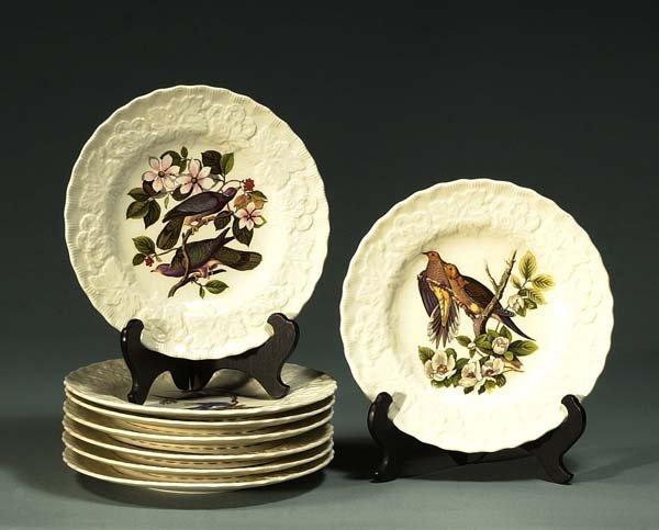 """1016: Set of eight Audubon bird plates, 9"""" in diameter"""