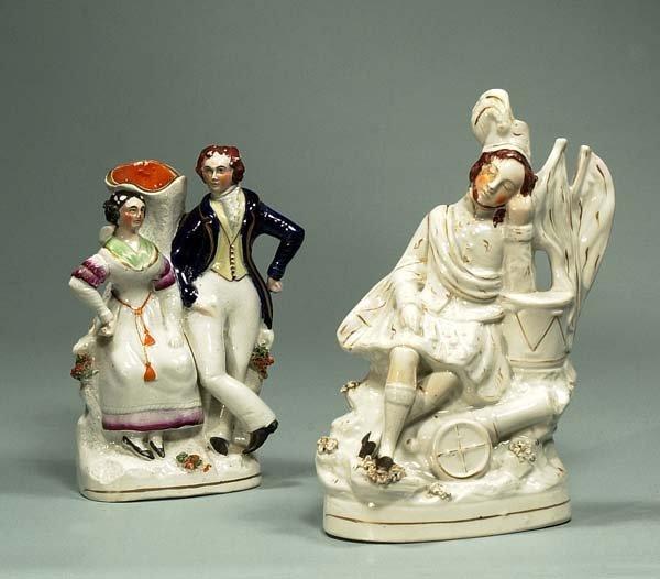 1: 19th century Staffordshire figure of a Scottish sold