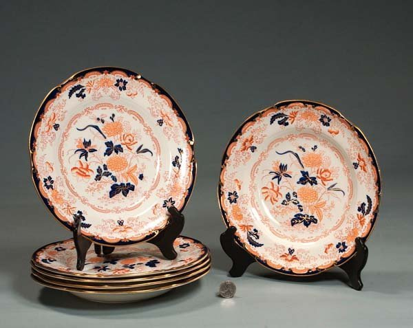 """3: Group of three 10"""" Royal Crown Derby plates and thre"""