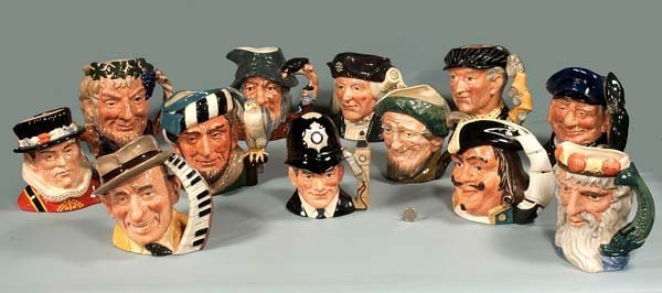 10: Collection of 12 Royal Doulton character mugs