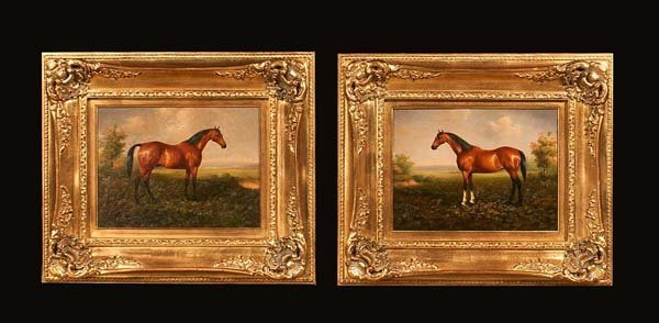 15: Pair of oil paintings on canvas, landscape scenes w