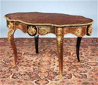 151A An ormolu mounted scarlet boulle center table th