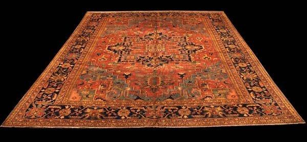 "221: 11'4"" x 14'6"" Serapi rug"