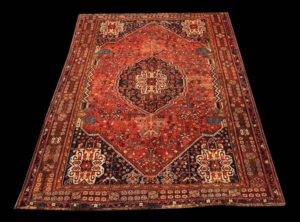 "426: 5'3"" x 8'3"" Qashghi rug"