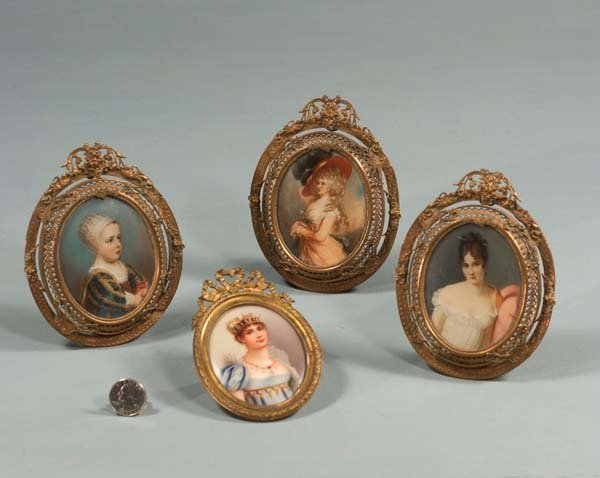 19: Oval miniature painting on porcelain of Josephine a
