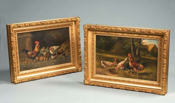 358: Pair of 19th century English landscape painting wi