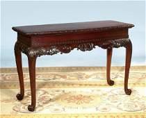 137: Fine Irish Chippendale mahogany bow front console