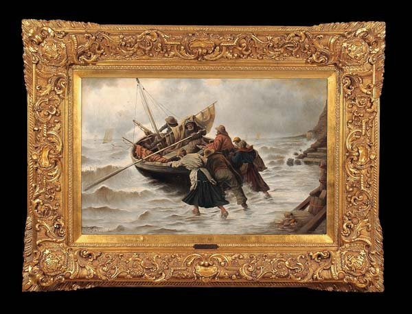 321: Exceptional 19th century English seascape painting