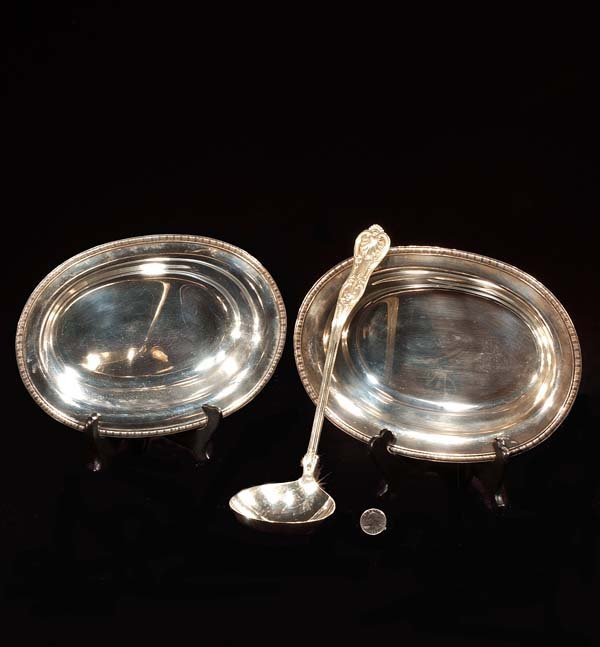 """439: Two """"J. E. Caldwell"""" oval sterling silver bowls an"""