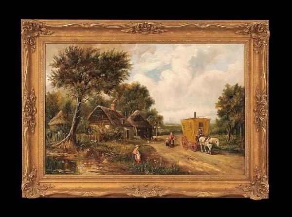 440: 19th century English landscape painting with a gyp