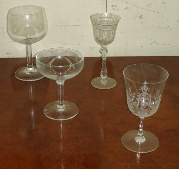 436: Two boxes of assorted crystal and glass stemware