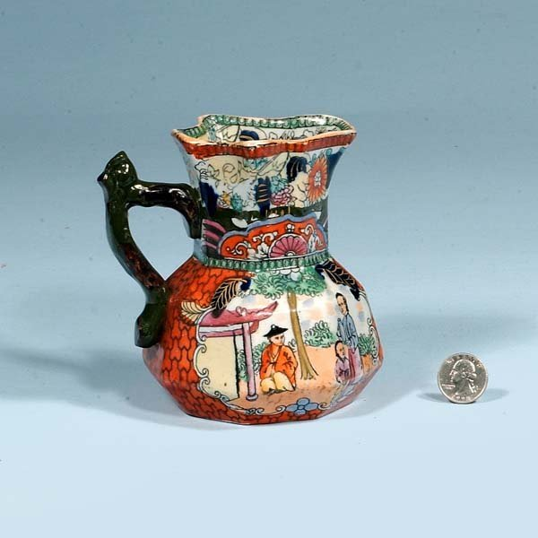 "427: Masons ironstone ""red scale"" cream jug, c.1860, 5-"