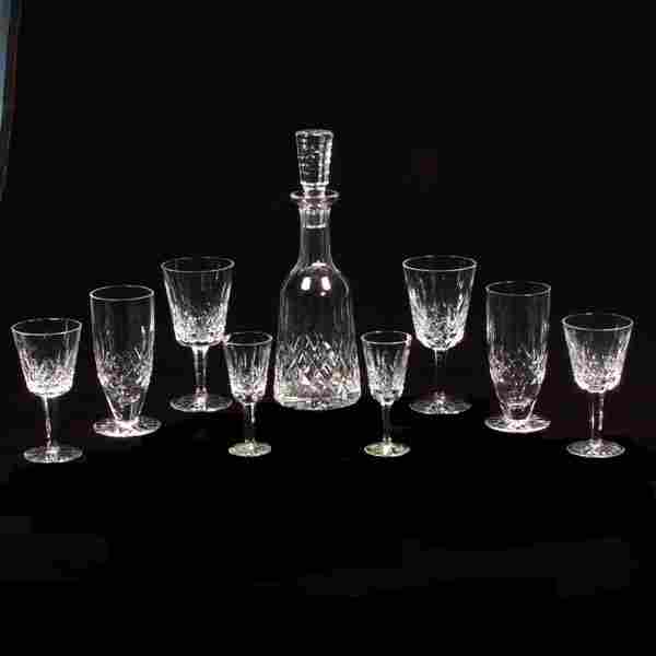 Group of Waterford cut crystal stemware in the Lism