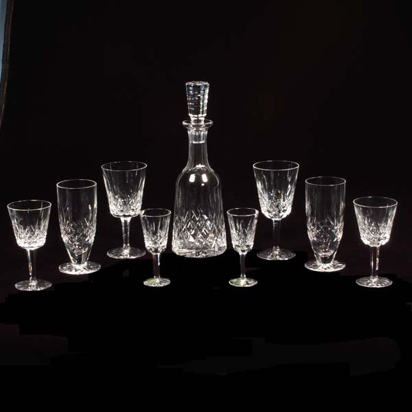 16: Group of Waterford cut crystal stemware in the Lism