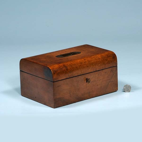 4: English walnut jewelry box with fitted interior, c.1