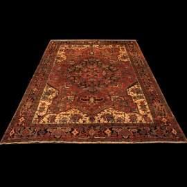 """626: 8'1"""" x 11'6"""" Heriz rug"""