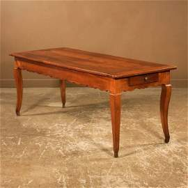 462: Fine Country French cherry wood farm house table w