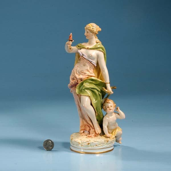 6: KPM porcelain figure of woman and young child by her