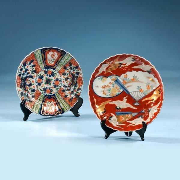 """1005: Decorated Imari porcelain plate, c.1880, 9"""" diame"""