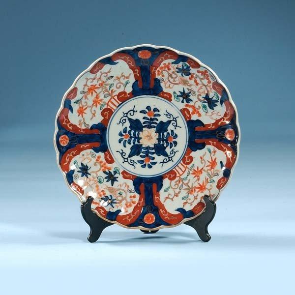 1017: Imari porcelain charger with cobalt blue, green a
