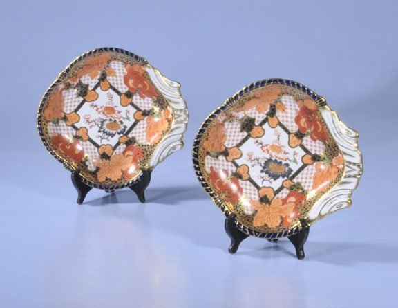 448: Pair of 19th century Royal Crown Derby sweet meat