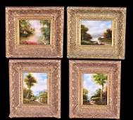1311 Set of four oil paintings on canvas landscape sc