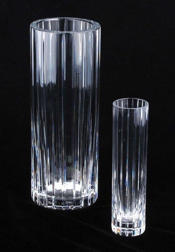9: Signed Baccarat crystal Harmonie pattern cylinder va