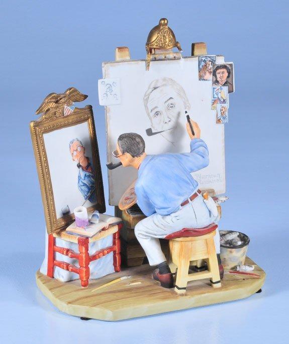"10: Norman Rockwell porcelain figure ""Self Portrait,"" i"