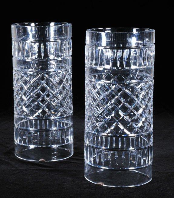 11: Pair of crystal hurricane shades in the diamond cut