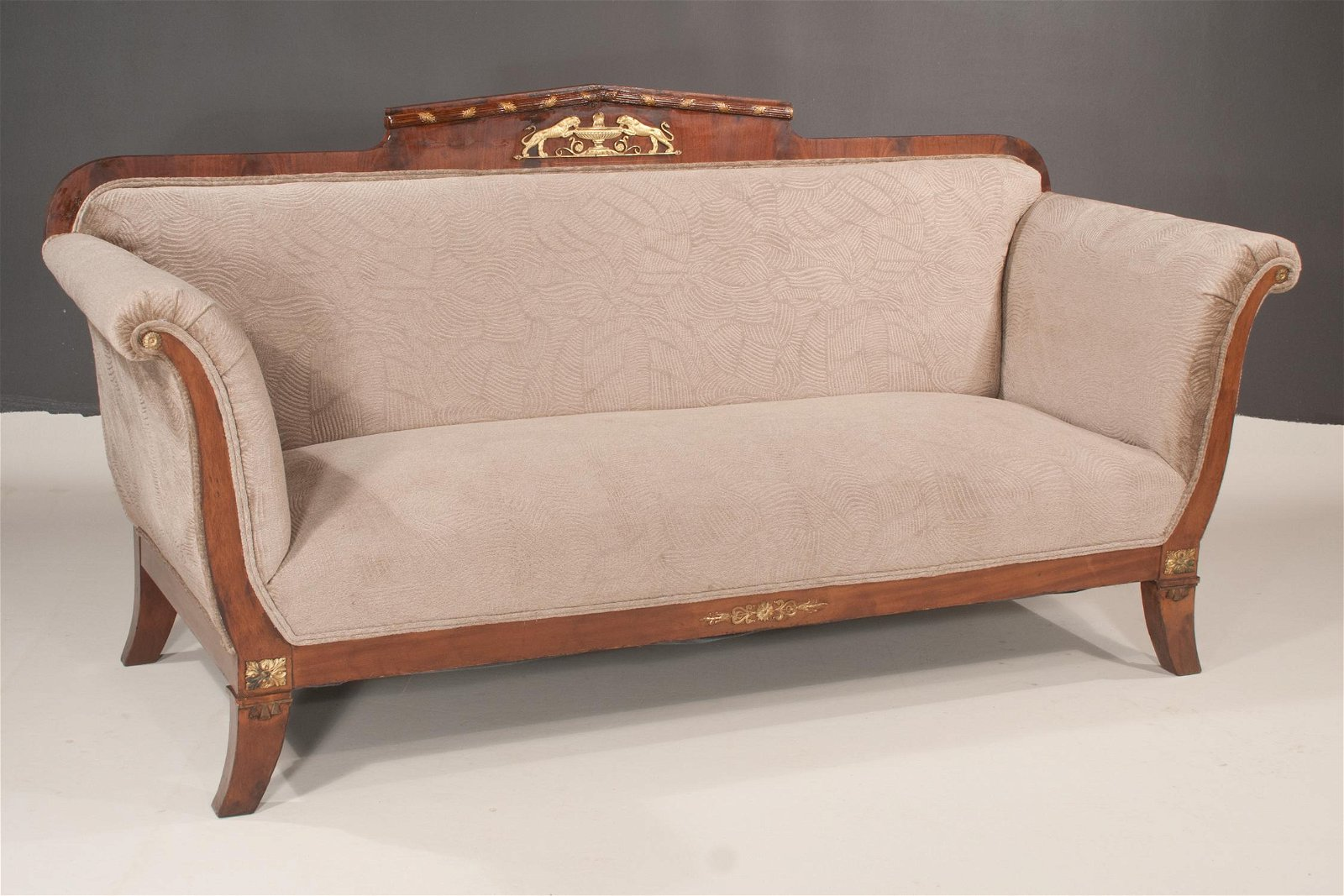 Empire mahogany sofa