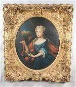 19th century oil painting on canvas, portrait of a