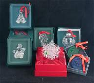 Group of 10 ornaments