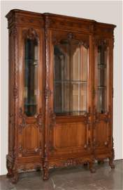 Louis XV walnut bibliotech