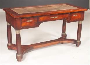 Empire mahogany writing desk