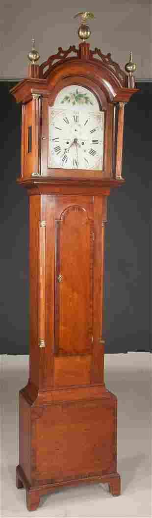 Cherry wood grandfather clock
