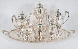 Fine 7 piece sterling silver tea and coffee service