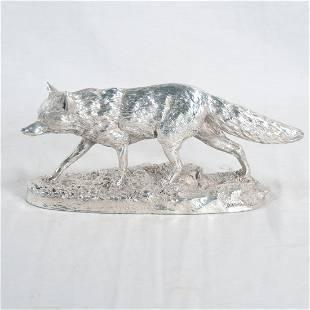 Sterling silver figure of a fox