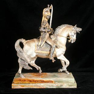 Giuseppe Vasari, bronze figure of a soldier on