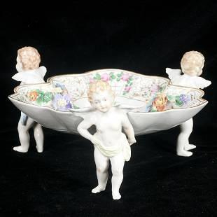 Dresden porcelain shaped compote