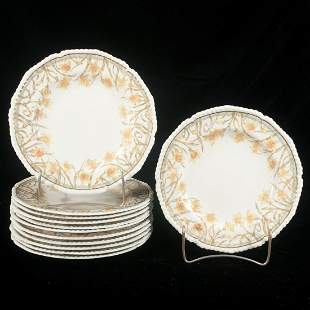 Set of 12 Royal Crown Derby china plates