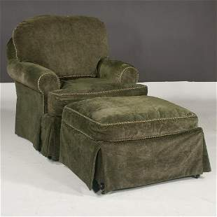 Stanford Furniture green upholstered club chair