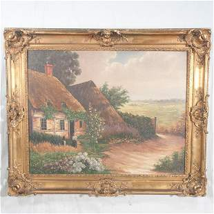 Early 20th century oil painting on canvas, landscape