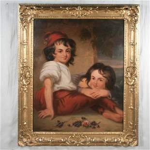 19th century oil painting canvas mounted on board