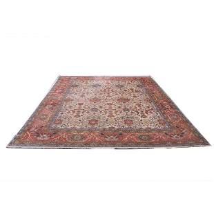"12'4"" x 14'8"" Kashan rug"