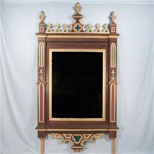19th century gothic style frame with mirror
